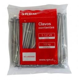 Clavos Corrientes 3 ½ x 9 Bolsa 1 KG