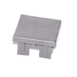 Tapas PVC Sección 75x75 mm Gris