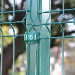Poste Pintado Verde Sección 60x60x1,5 mm 2,3 Mts Alto